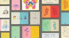 Fedrigoni Woodstock promotional calendar 2013 by The One Off #calender #2013 #design #graphic #woodstock #layout #fedrigoni