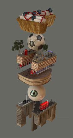 3D Digital Artworks by Yenue