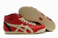 Onitsuka Tiger Mexico 66 Mid Red/Beige/Dark Blue Women's #shoes
