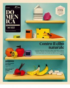 Natural Food - Coverjunkie.com #cover #print #domenica #magazine