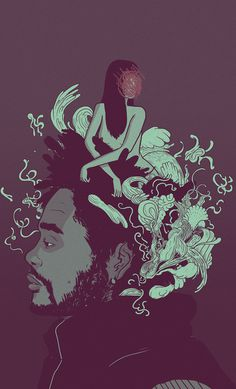 The Weeknd by Rob Cham #illustration #portrait #art