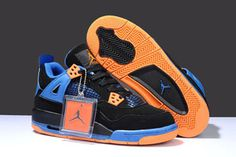 Releasing Blue/Black/Orange Basketball Shoes at Nike Michael Jordan 4 #fashion