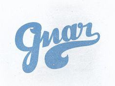 Dribbble - Gnarrr by Nick Slater #type