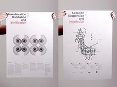 Sonification Posters | Gridness #grid #print #design #poster
