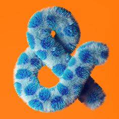 Amfursand on Behance #ampersand #3d #fur #typography