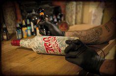 Tattoo Whisky Bottle #tattoo #photography #whisky