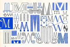 M, Embroidery Letterforms, Present and Correct