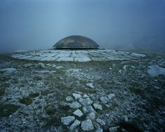 Andermatt, Beat Brechbühl #old #dome #misty #bunker