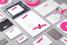 Established NYC – SI Special | September Industry #pink #print #identity #white