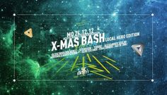 X-Mas Bash #universe #disco #astronaut #flyer #astronomy #space #party