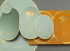 Le Meurice Restuarant by Soins Graphiques #branding #gold #restaurant