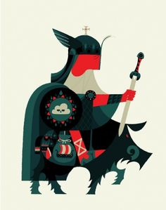 1318791853.jpg (500×635) #illustration #knight #geometric