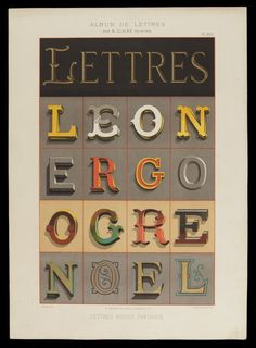 Daily Type Specimen : Modeles de Lettres... #type #specimen #decoration