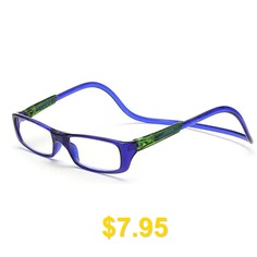 Men #Women #Reading #Adjustable #Hanging #Neck #Magnetic #Front #Presbyopic #Glasses #Degree #- #BLUE #RIBBON