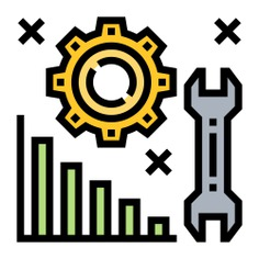 See more icon inspiration related to problem, gear, business and finance, solution, adjustment, bar graph, analysis, graph and wrench on Flaticon.