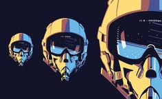 Illustrations | Cameron McNab #vector #helmets #illustration #mcnab #cameron
