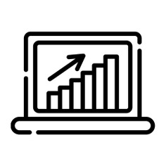 See more icon inspiration related to graph, line chart, stats, graphs, charts, graphics, statistics, laptop, technology and computer on Flaticon.
