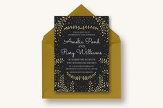 New Years Wedding Invitation Suite