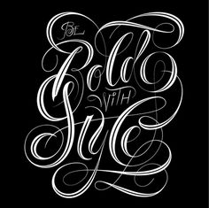 Be Bold With Style type lettering by @andreirobu #typography