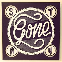Stay Gone by Georgia Hill #lettering #white #georgia #hill #black #and #type