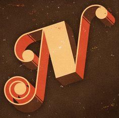 Taylor Goad via grain edit #typography #letter