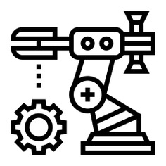 See more icon inspiration related to robot, gear, line, cogwheel, assembly line, electronics, assembly, production, engineering, industrial, industry, factory, machine, people and technology on Flaticon.