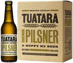 Tuatara Pilsner #packaging #beer #label #bottle