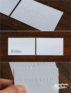 Letterpress embossed logo cards made by Letterpress Winkel The Netherlands