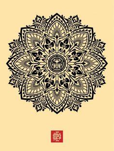 Shepard Fairey Mandala #pattern