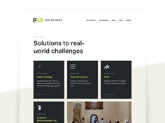 Foster Made Case Studies grid card focus lab foster made case studies case study landing page ux ui