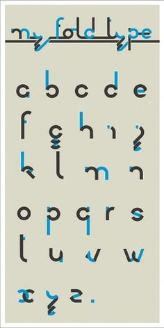 My fold type (alphabet) on the Behance Network #design #graphic #typography