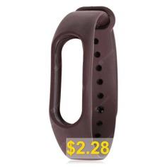 Pure #Color #TPU #Smart #Wrist #Watch #Strap #for #Xiaomi #Miband #2 #- #DEEP #COFFE
