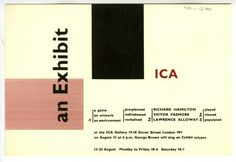 An Exhibit: an Exhibition, an Artwork, a Collaboration #richard #ica #exhibit #hamilton