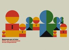 2012 International Year of Co operatives #design #graphic #illustration #poster #lamosca