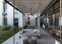 L-Shaped House by Neuman Hayner -  #architecture, #house, #home, #decor, #interior, #homedecor,