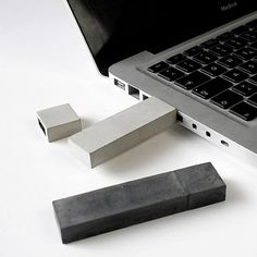 ETC... Berlin...USBéton...ENGRAVE YOUR DATA IN CONCRETE #metal #apple #technology #usb