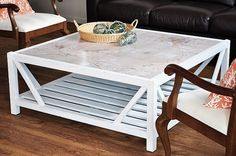 The Painted Hive: Coastal Map Covered Coffee Table #diy #furniture #map