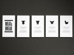 Meat & Bread | Vancouver | bumbumbum #business cards #brand identity