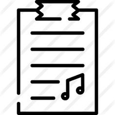 See more icon inspiration related to files and fodlers, files and folders, music and multimedia, music file, clipboard, musical note, audio, list, files, document, file, musical and music on Flaticon.