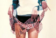 ho ryon lee #overlapping #skirt #double #overlaying #painting