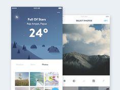 Weather #App Concept part 2 #ui