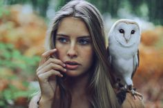 Beautiful Girl With Owl