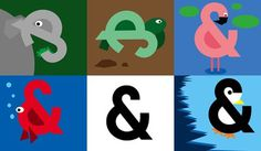 Dribbble - Ampersandimals by Zachary Johnson #ampersand #animals #illustration #typography