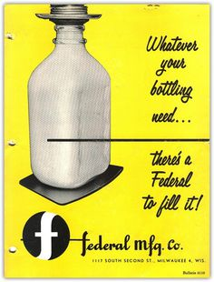 BOTTLES #bottle #design #vintage #ad #milk