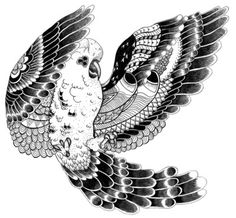 Art Print #illustration #parrot #drawing #black&white