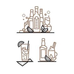 Icon design by Nick Slater #icon #icondesign #beverage #picto #bottle #cocktail #beer