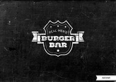REAL MEN'S BURGER BAR on Behance #logo #brand