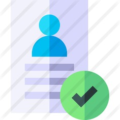 See more icon inspiration related to hired, files and folders, professions and jobs, human resources, CV, candidate, approved, businessman and manager on Flaticon.