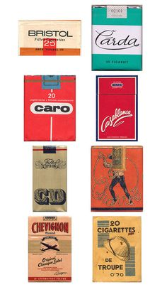 01-17-12_cigarette2.jpg #illustration #typography #vintage #packaging #retro #color #old #cigarette