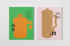 Graphic identity and print by Blok for subscription coffee service Modern Recreation